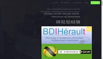 Site internet de BDI Herault