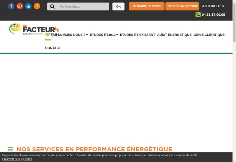 Capture d'écran du site de Be Facteur 4