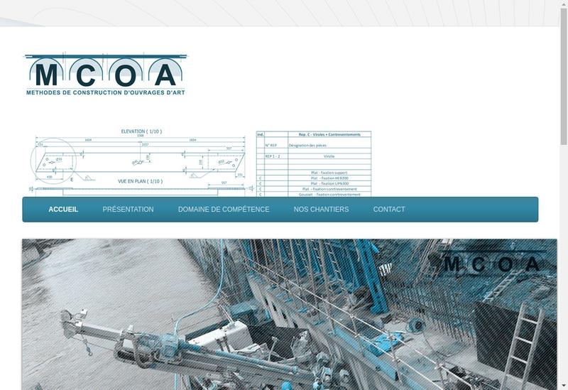 Capture d'écran du site de Mcoa Methode Construction Ouvrage Art