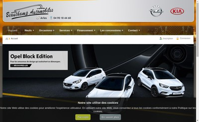 Site internet de Beauchamp Automobiles