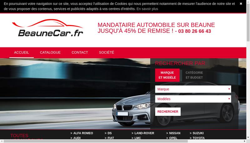 Capture d'écran du site de Beaunecar Fr