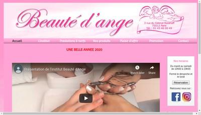 Site internet de Beaute d'Ange