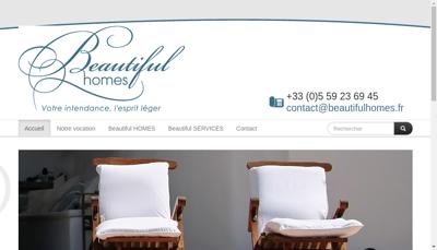 Capture d'écran du site de Beautiful Services