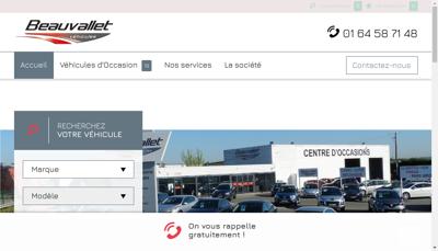 Capture d'écran du site de Beauvallet Vehicules