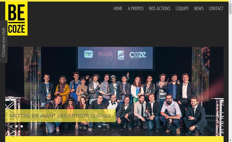 Capture d'écran du site de Becoze
