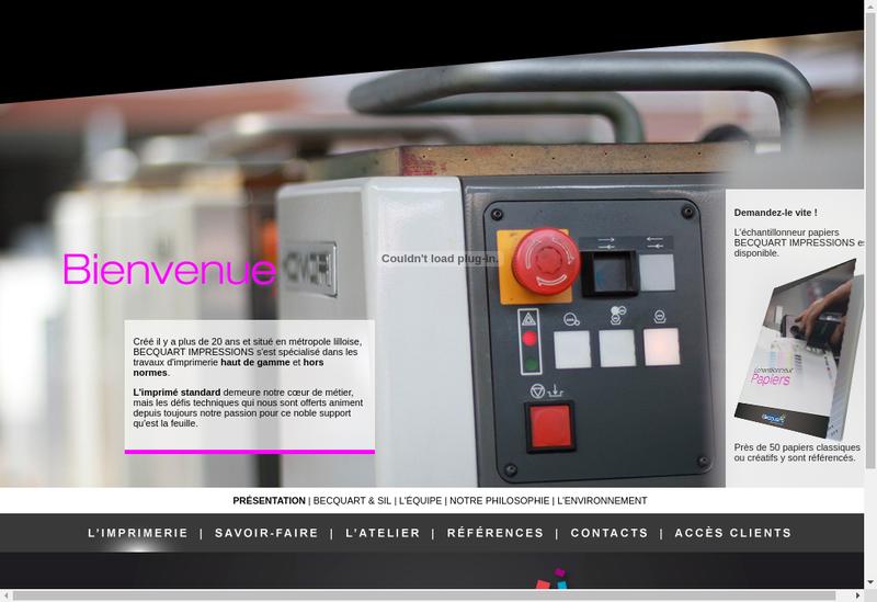 Capture d'écran du site de Becquart Impressions