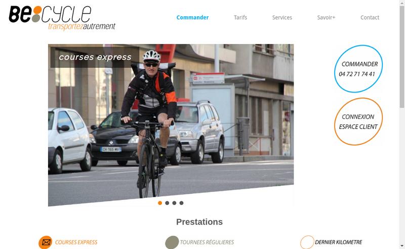 Capture d'écran du site de Becycle Lyon