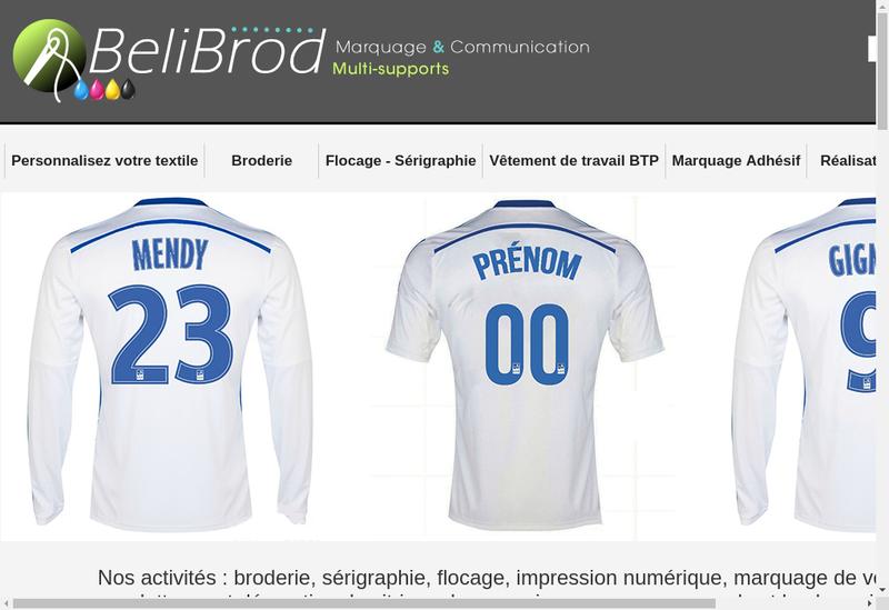 Capture d'écran du site de Belibrod