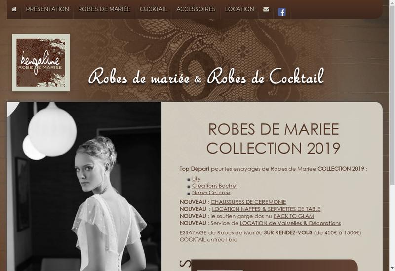 Capture d'écran du site de EURL Bengaline