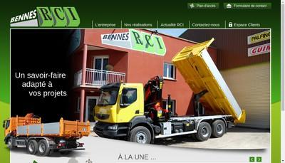 Site internet de Rouergue Carrosserie Industrielle