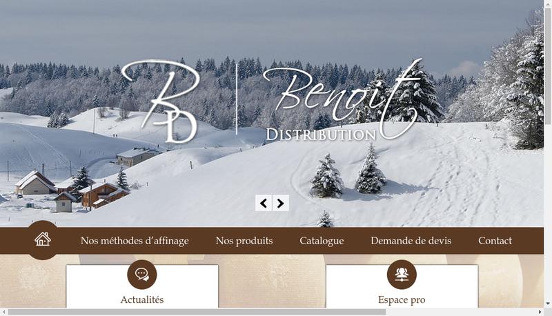 Capture d'écran du site de Benoit Distribution