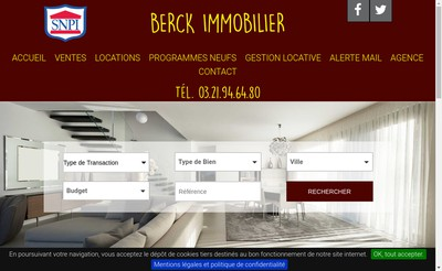 Site internet de Berck Immobilier