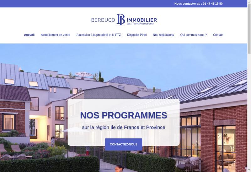 Capture d'écran du site de Berdugo Immobilier