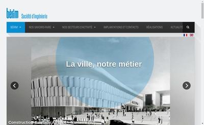 Site internet de Bureau d'Etudes et de Recherches pour l'Industrie Moderne Berim
