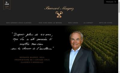 Site internet de Bernard Magrez Ses Vignobles du Sud
