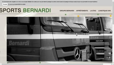 Site internet de Bernardi Logistique