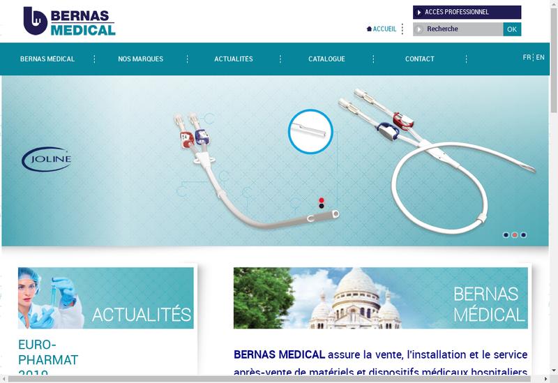 Capture d'écran du site de Bernas Medical
