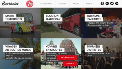 Capture d'écran du site de Cars Berthelet