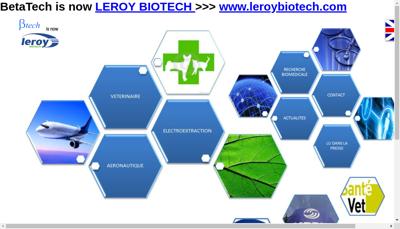 Capture d'écran du site de Beta Tech