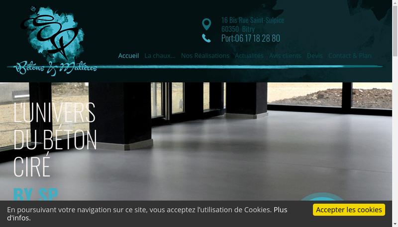 Capture d'écran du site de Sebastien Peltier
