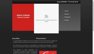 Site internet de Bexco Conseil