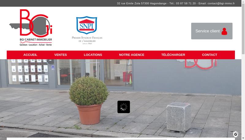 Capture d'écran du site de EURL Bgi