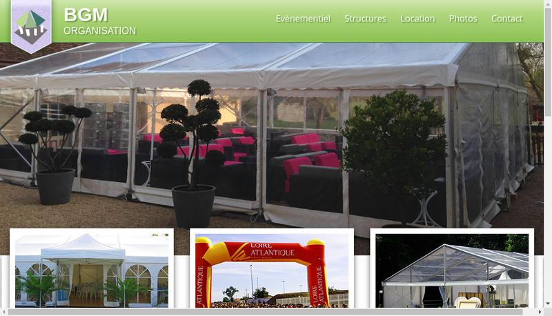 Capture d'écran du site de BGM Organisation
