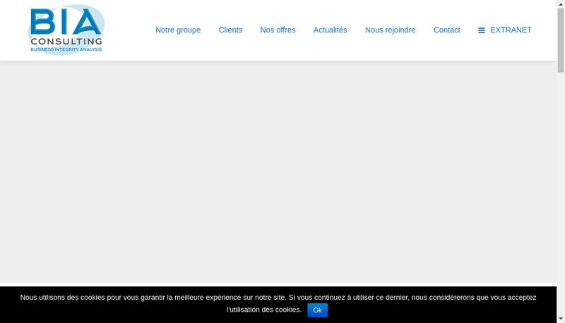 Capture d'écran du site de Bia Consulting