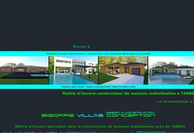 Capture d'écran du site de BIGORRE VILLAS CONCEPTION