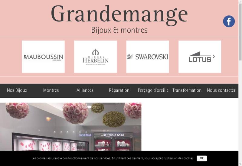 Capture d'écran du site de Bijouterie Grandemange