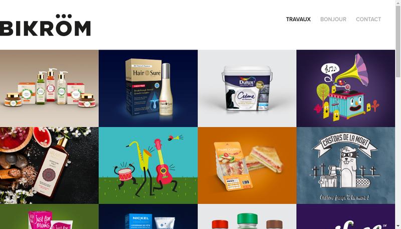 Capture d'écran du site de Bikrom