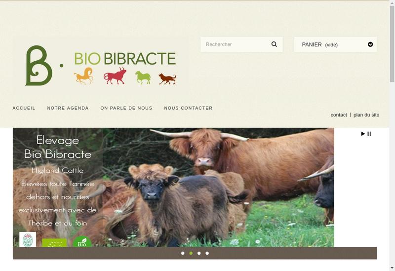 Capture d'écran du site de SCEA Elevage Bio Bibracte