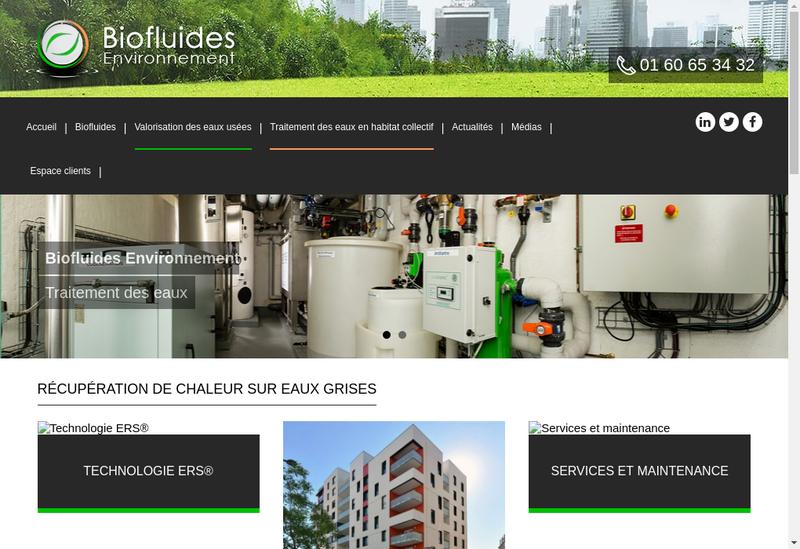 Capture d'écran du site de Biofluides - Alt H2O