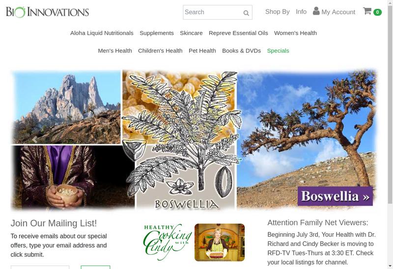 Capture d'écran du site de Bi Innovation