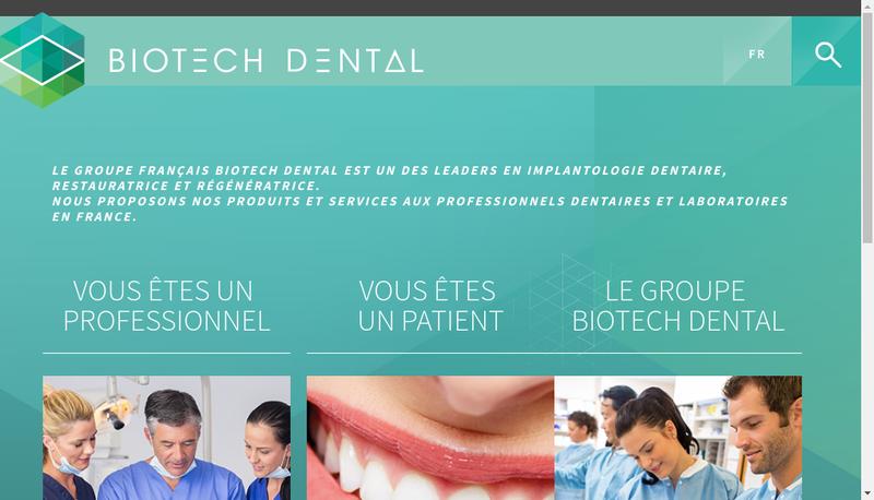 Capture d'écran du site de Biotech Dental