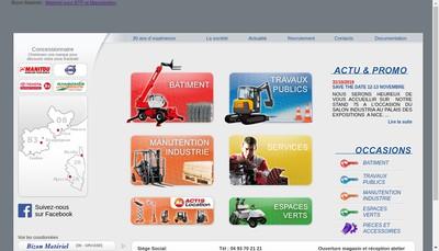Site internet de Societe Bizon Materiel