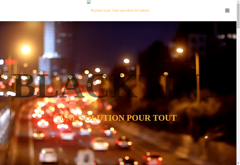Capture d'écran du site de Blacktint Lyon
