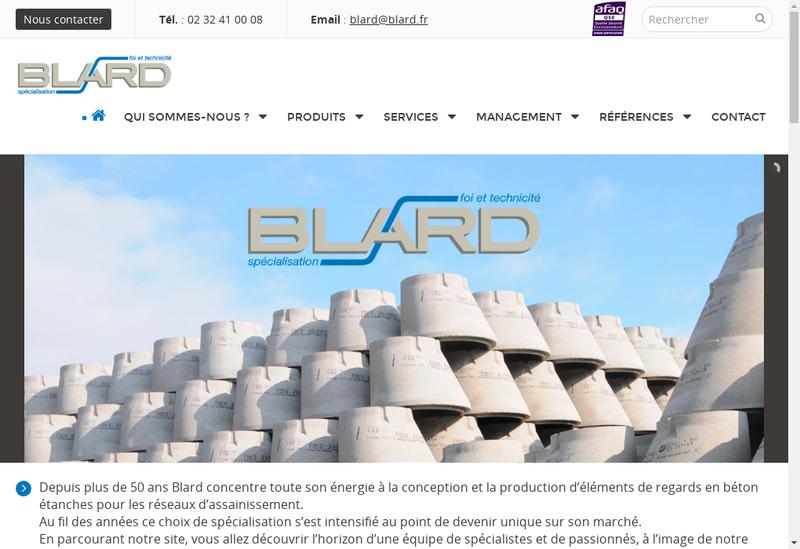 Capture d'écran du site de Blard