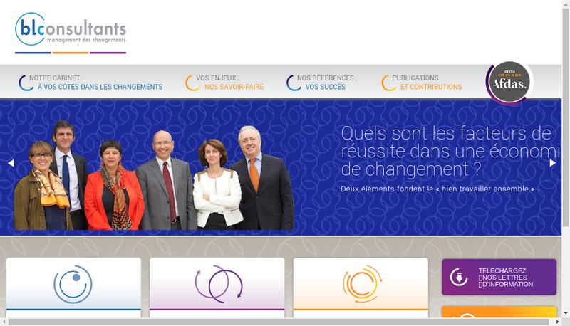 Capture d'écran du site de Bl Consultant
