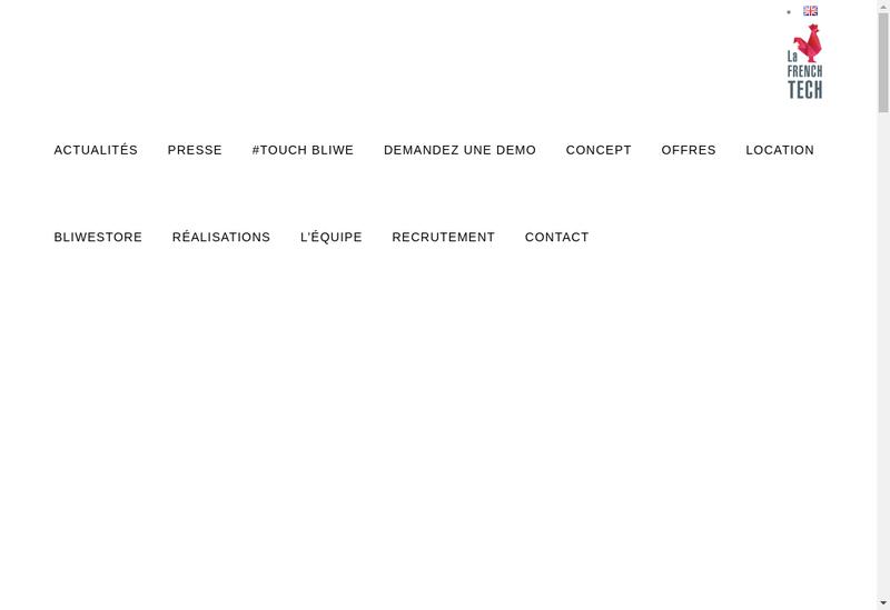 Capture d'écran du site de Bluewall