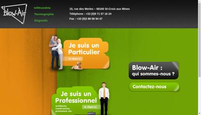 Capture d'écran du site de Blow Air