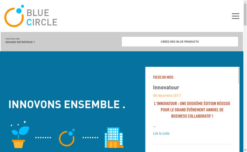 Capture d'écran du site de Blue Circle
