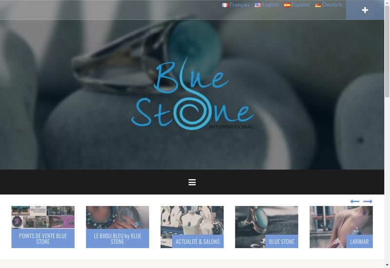 Capture d'écran du site de Blue Stone International