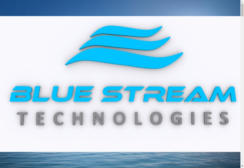 Capture d'écran du site de Blue Stream Technologies