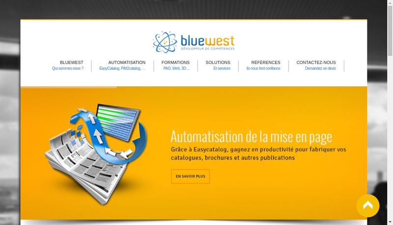 Capture d'écran du site de Bluewest