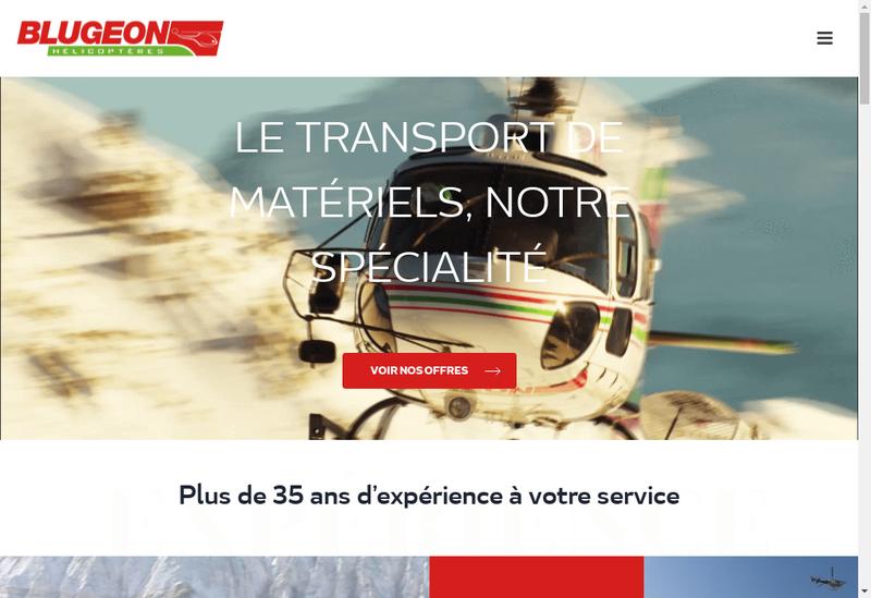 Capture d'écran du site de Blugeon Helicopteres