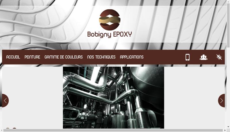 Capture d'écran du site de Bobigny Epoxy