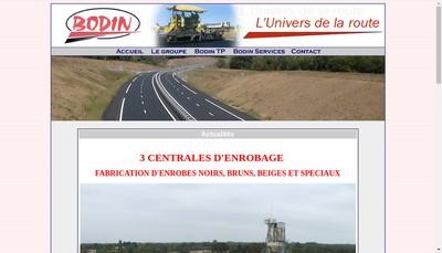 Site internet de Entreprise Bodin