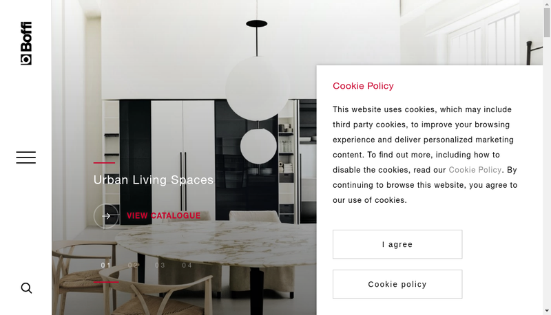 Capture d'écran du site de Boffi France
