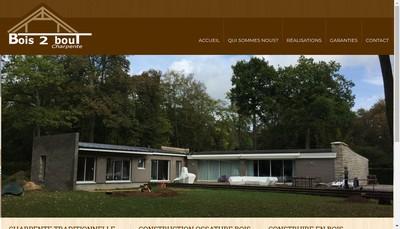 Site internet de Bois 2 Bout Charpente